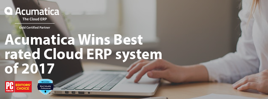 Acumatica Wins Best rated Cloud ERP system of 2017